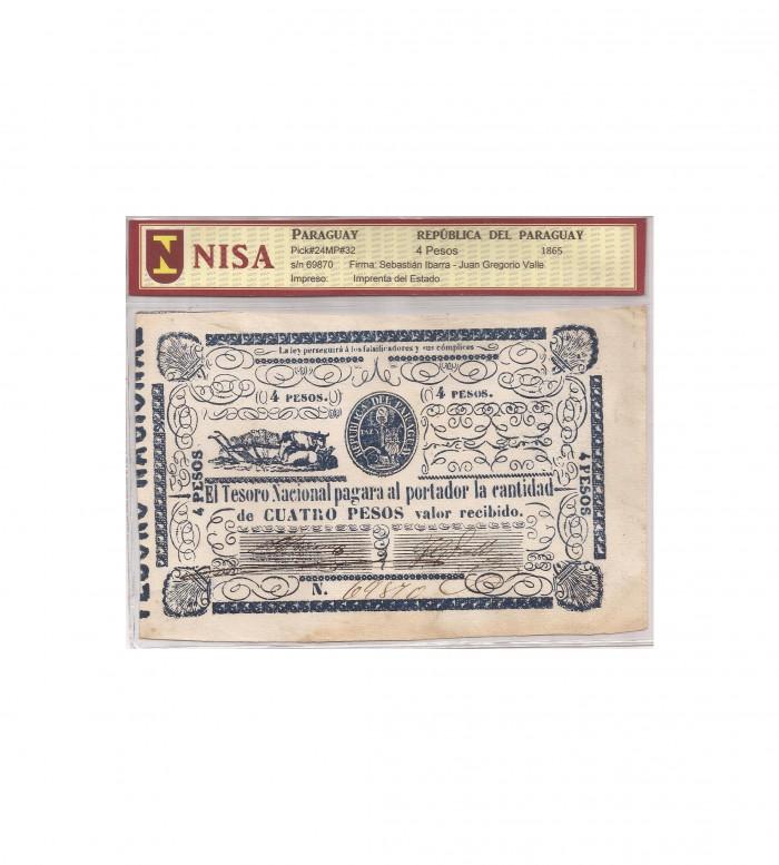 4 PESOS - 1865