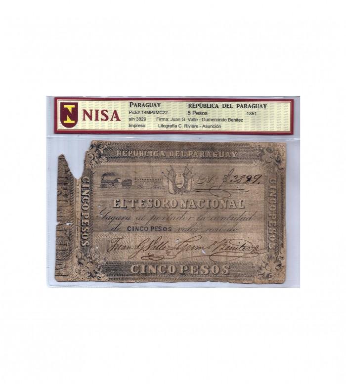 5 PESOS - 1861